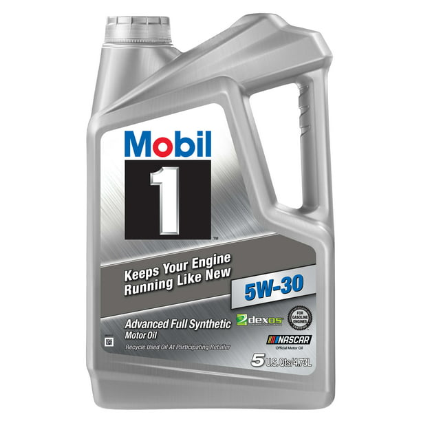 Mobil 1 Advanced Full Synthetic Motor Oil 5W-30, 5 Quart