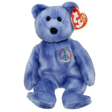 fbcd2111b49f9c TY Beanie Baby - PEACE 2003 the Bear (Blue - Non-Colored Peace Sign ) (UK  Exclusive) (8.5 inch) - Walmart.com