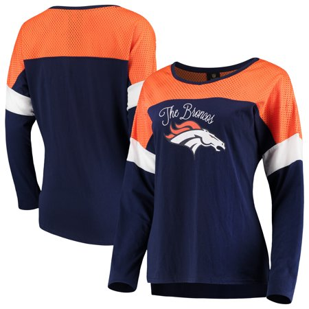 Denver Broncos Juniors Team Blocker Color Block T-Shirt -