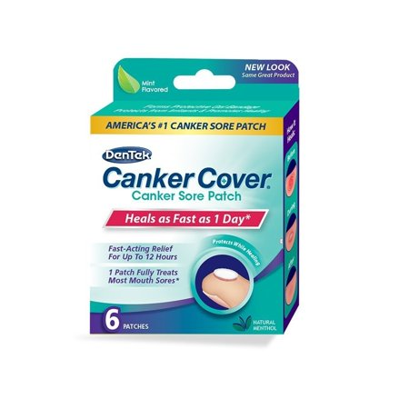 DenTek Canker Cover Patch, 6 Count (Best Otc Canker Sore Treatment)