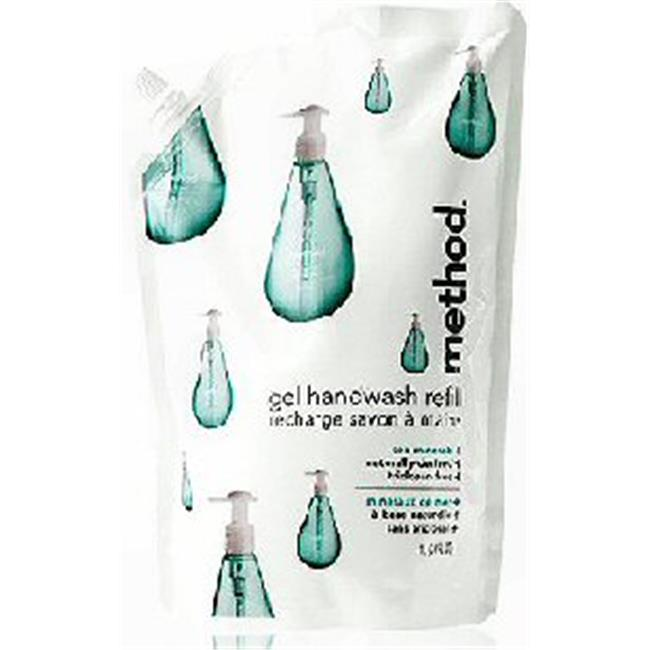 Method 00653 SEA Gel Hand Wash Refill - Sea Minerals Pack Of 6