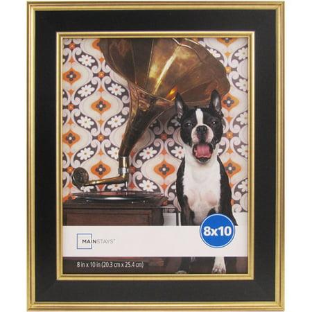 mainstays kristoff 8x10 black gold picture frame. Black Bedroom Furniture Sets. Home Design Ideas