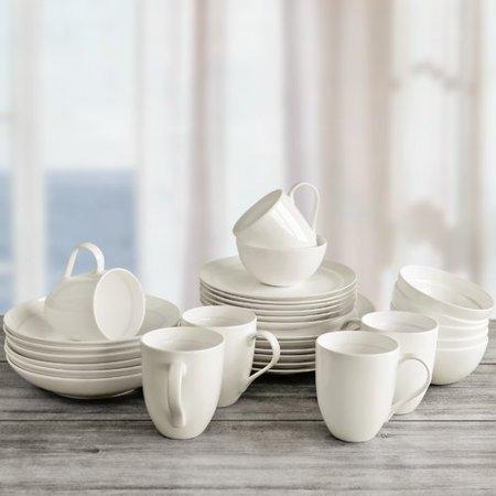 Alcott Hill Maguire 30 Piece Bone China Dinnerware Set, Service for 6