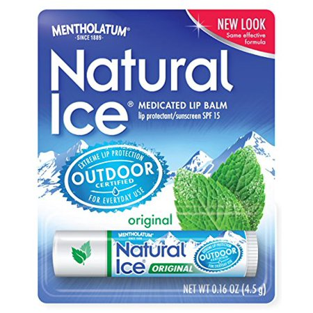LOT OF 12 MENTHOLATUM NATURAL ICE MEDICATED ORIGINAL SPF 15 LIP PROTECTANT BALM