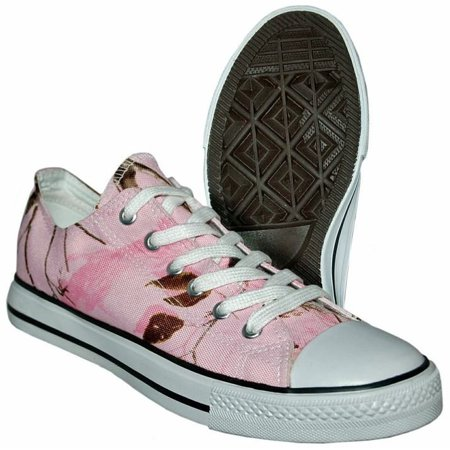 Itasca ALUMNI Youth Girls Pink Camo Athletic Lace Up Sneaker Shoes ()