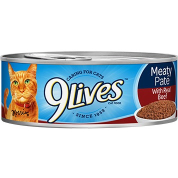 Image of 9lives Meaty Pat; With Real Beef