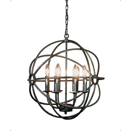 Spherical Orb Iron Chandelier Lighting Country French 6 Lights Sphere Modern Rustic H 20 W 20 - Light Orbs