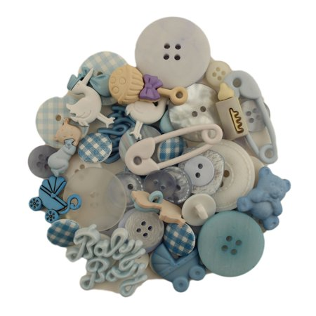 BUTTONS GALORE 50+ BUTTONS FOR SEWING & CRAFTS - BABY BOY