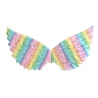 KABOER Tutu Dreams Wings for Girls Unicorn Fairy Princess Costume Accessories Birthday Party