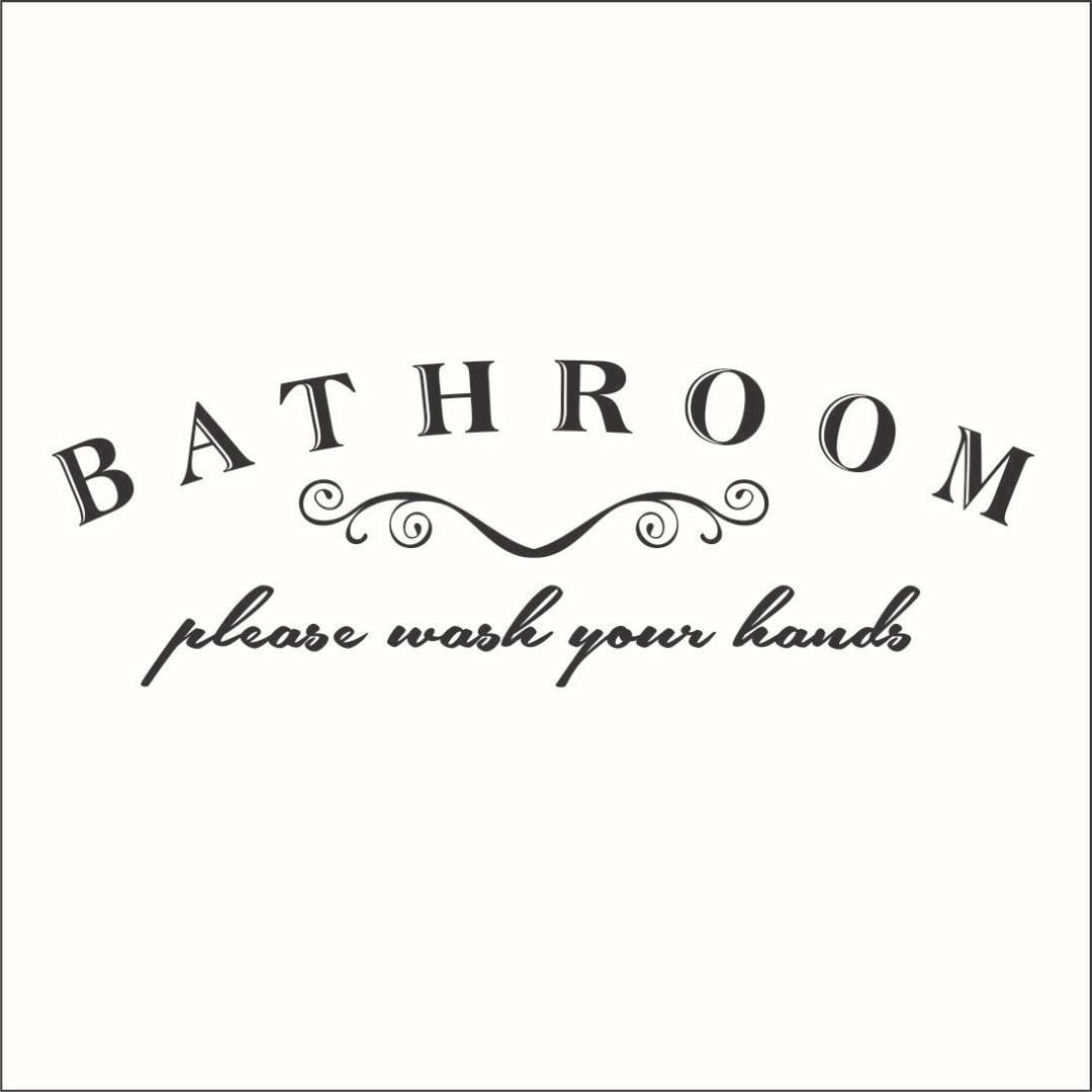 Bathroom Please Wash Your Hands Vinyl Decal - Large