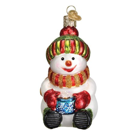 Traditions Snowman - Ornaments: Snowman with Cocoa Glass Blown Ornaments for Christmas Tree, ORNAMENTS FOR CHRISTMAS TREE: Hand crafted in age-old tradition with techniques that.., By Old World Christmas