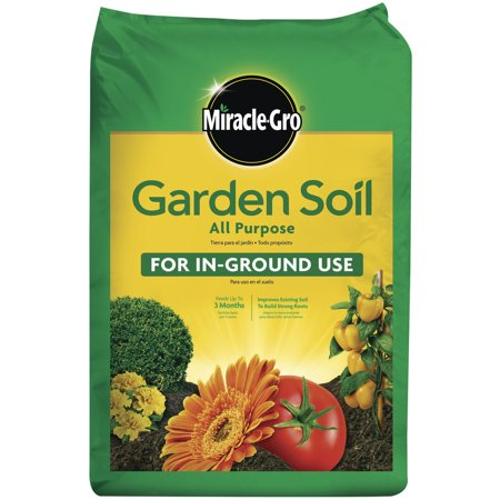 Miracle-Gro Garden Soil All Purpose for In-Ground Use, 0.75 Cu. ft., Feeds up to 3 Months