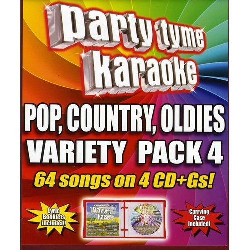 Party Tyme Karaoke: Variety Pack 4 (4 Disc Box Set)