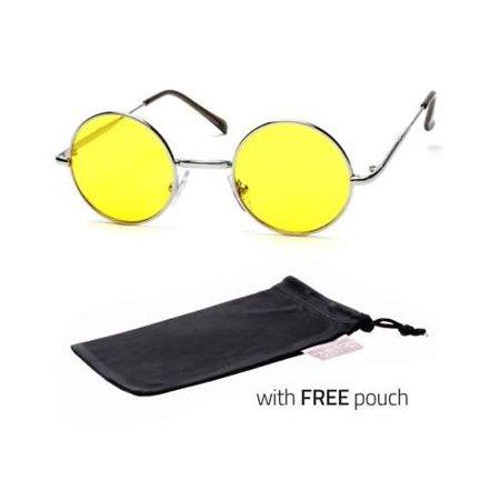 1a6fae35da92 Sunny Shades - John Lennon Sty Vintage Classic Circle Round Sunglasses Men  Women Color YELLOW P - Walmart.com