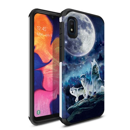 FINCIBO Hybrid Case Hard Plastic TPU Slim Back Cover for Samsung Galaxy A10e A102U 5.83
