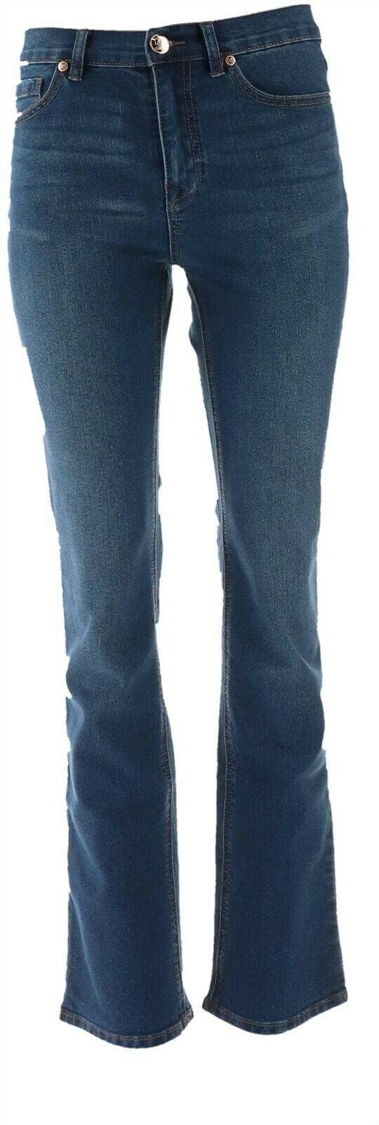 DG2 Diane Gilman Stretch Boot-Cut Jean Basic Colors Chambray 10P NEW 535-198