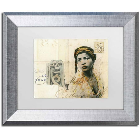 Trademark Fine Art Ronda Maur Canvas Art By Nick Bantock  White Matte  Silver Frame