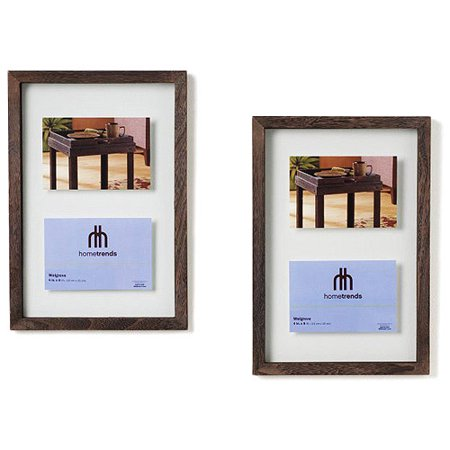 Hometrends Welgrove Floating Frames Double Opening Set Of Two Walmart Com