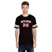 Unisex British Flag Football Fine Jersey T-Shirt
