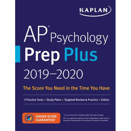 AP Psychology Prep Plus 2019-2020 : 3 Practice Tests + Study Plans + Targeted Review & Practice +