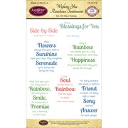 """JustRite Papercraft Clear Stamps 4""""X6""""-Wishing You Rainbows"""