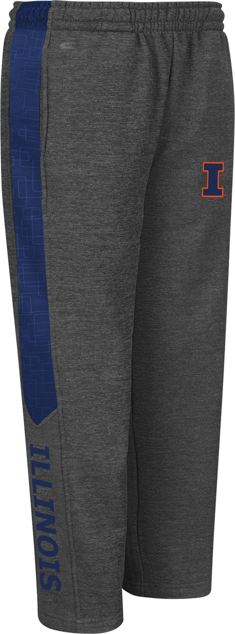 Illinois Fighting Illini Youth Top Gun Fleece Pants Charcoal by Colosseum