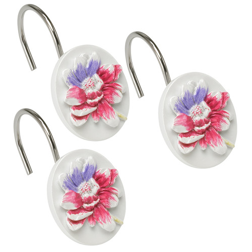 Sweet Home Collection Flower Haven Shower Curtain Hooks (Set of 12)