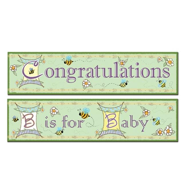 B Is For Baby Banners (Pack of 12)