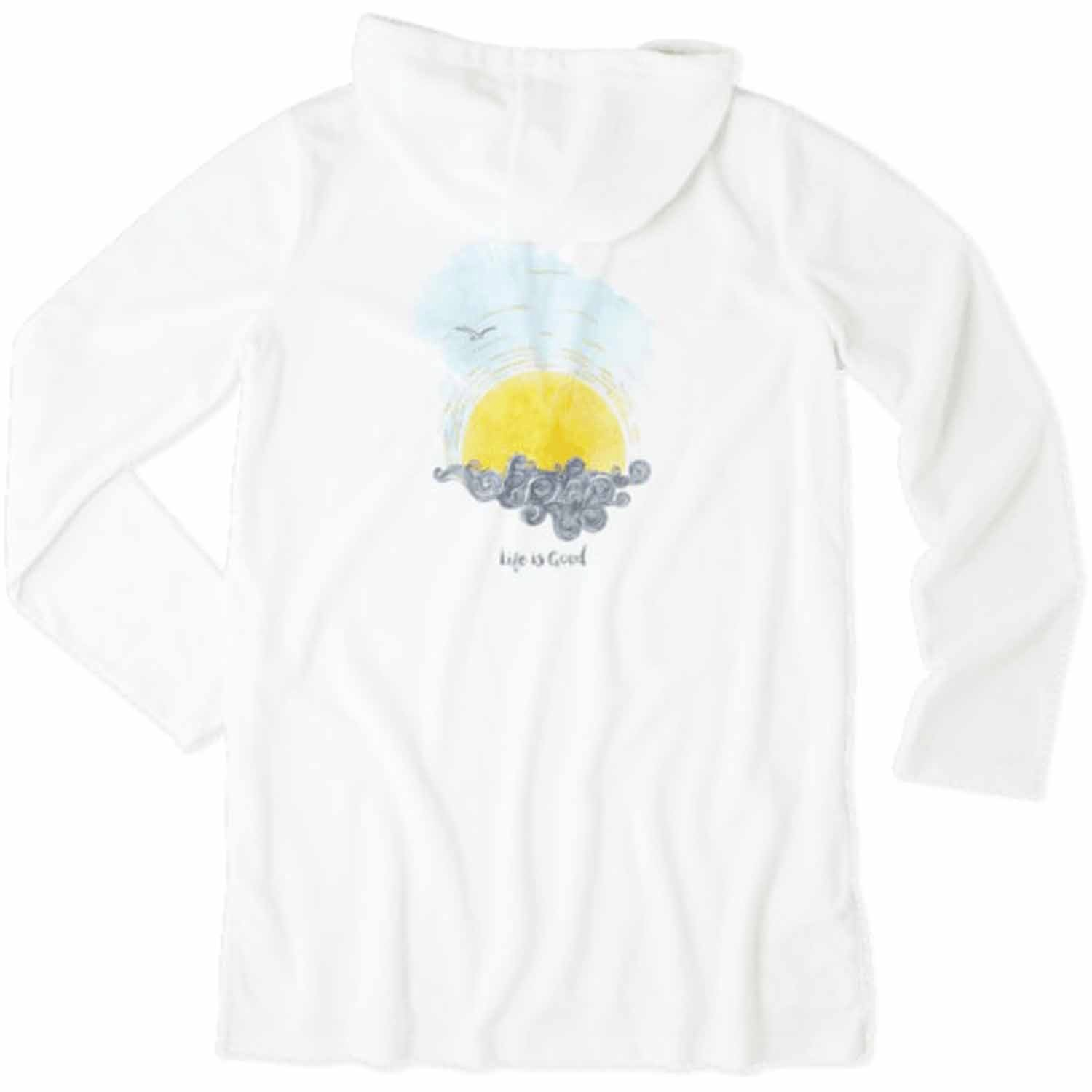 Life is Good. Women's Terry Beach Cover Up: LIG Sunset Sw...