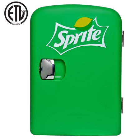 Sprite 4 Liter/6 Can Portable Fridge/Mini Cooler for Food, Beverages, Skincare - Use at Home, Office, Dorm, Car, Boat - AC & DC Plugs Included