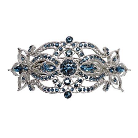 Faship Gorgeous Rhinestone Crystal Big Floral Hair Barrette](Crystal Barrettes)