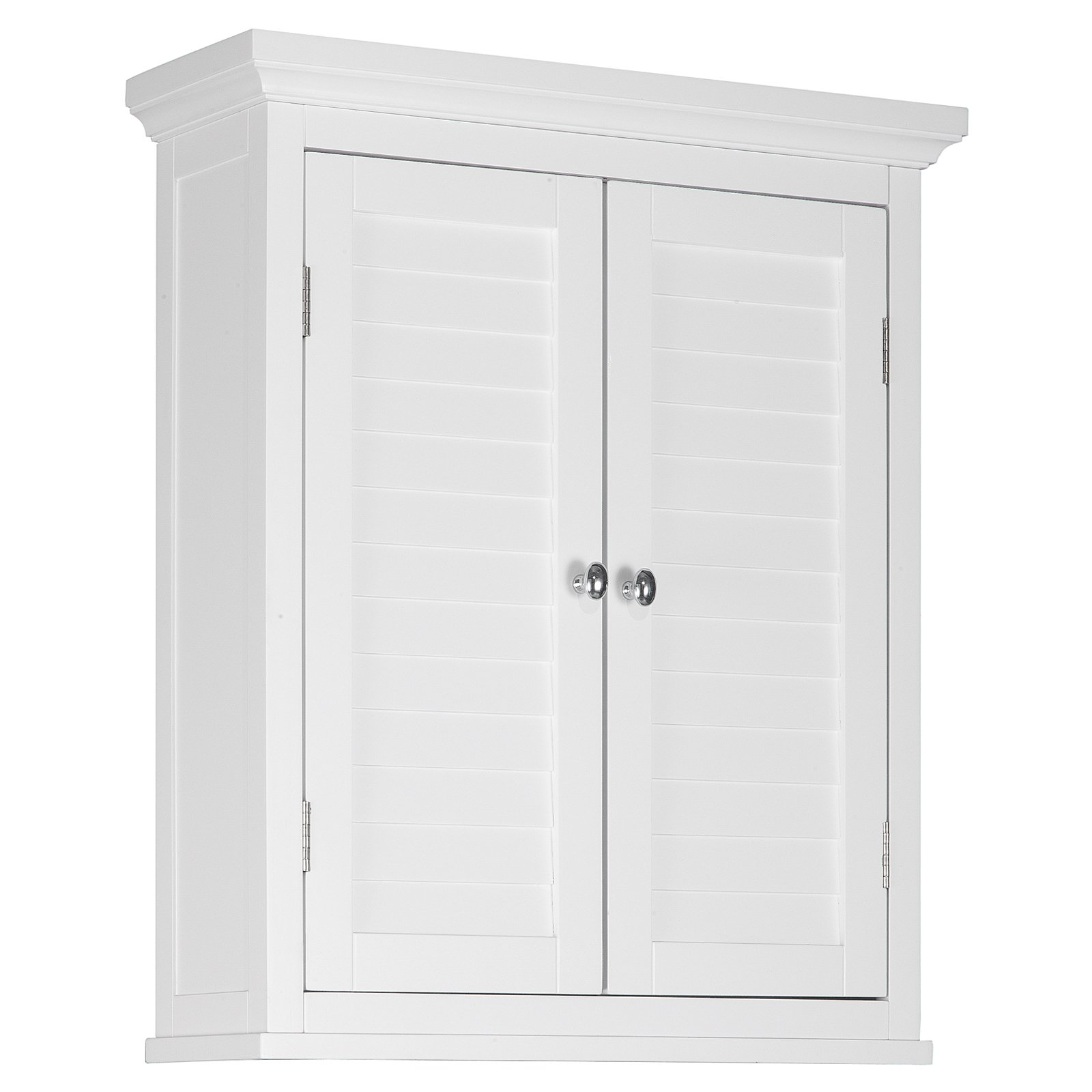 Attractive Elegant Home Fashions Sicily Wall Cabinet 2 Shutter Doors, White