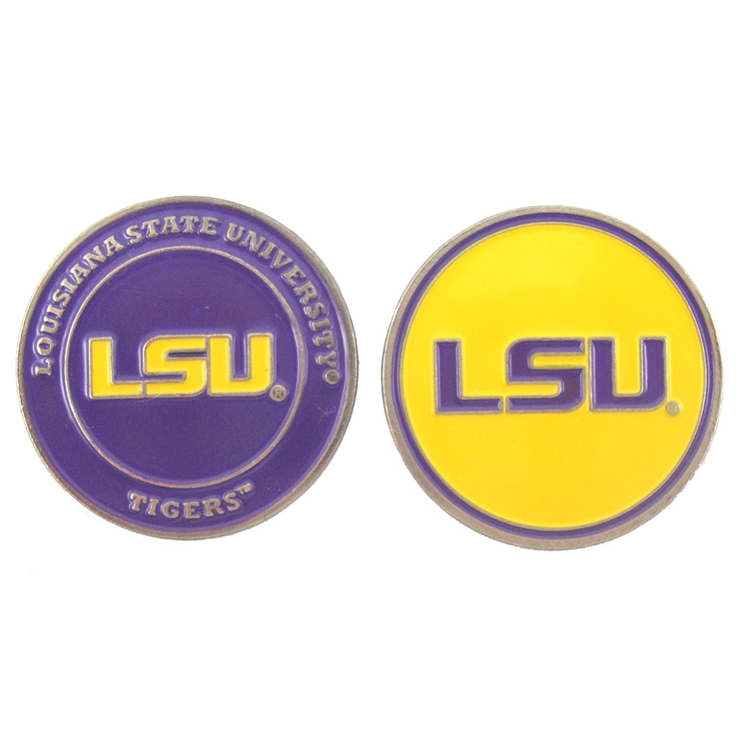 Louisiana State (LSU) Tigers Double-Sided Golf Ball Marker, 1 Team Logo Double Sided Ball Marker By Waggle Pro Shop,USA