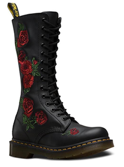 Vonda Leather Combat Boots