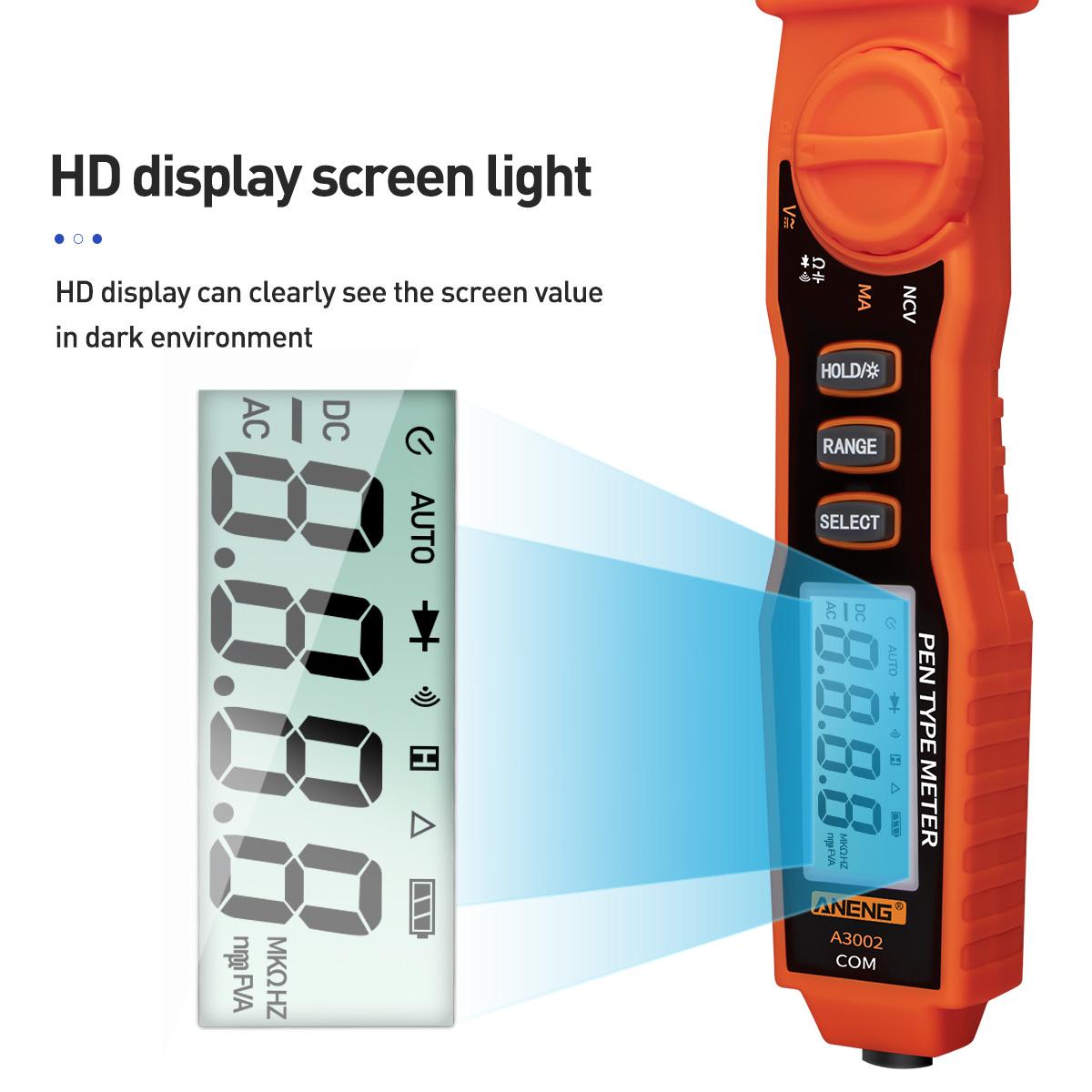 4000 Counts /& Non-Contact AC//DC Tester Tool A3002 Digital Pen x1 Multimeter L6L0