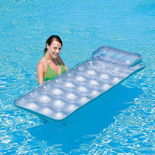 Splash and Play Metal Tech 18-Pocket Inflatable Pool Lounge Float