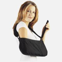 Deep Pocket Arm Sling - Hely & Weber 500-L Arm Sling Deep Pocket Black Large Ea, Padded pressure sensitive strap offers customized fitting and adjustment. By Hely Weber