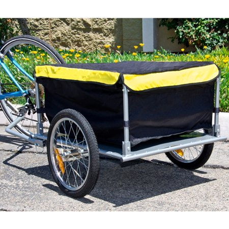 Best Choice Products Garden Bike Cargo Luggage Trailer Shopping Cart Carrier w/ Cover -