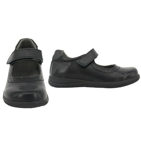 Happystep? Genuine Leather Toddler Little Girl Mary Jane School Uniform Formal Dress Shoes - Black (1 Pair) - image 4 of 6
