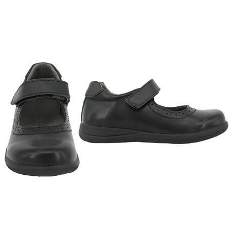 36808d31ef9a Genuine Leather Toddler Little Girl Mary Jane School Uniform Formal Dress  Shoes - Black ...