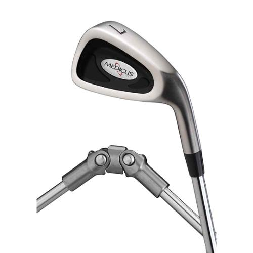 DualHinge 7 Iron Golf Swing Trainers in Satin Nickel Finish (Left Handed - Men)