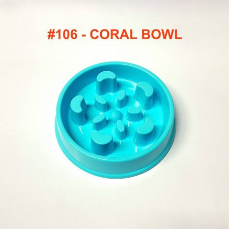 Alpha Dog Series Fun Slow Feeder Bowl - CORAL (BLUE) Series Dog Bowl