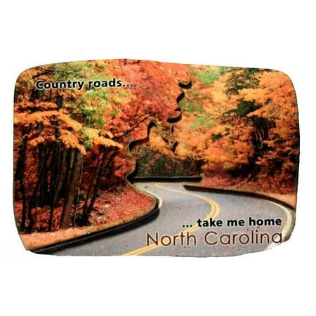 Country Roads Take Me Home North Carolina Fridge
