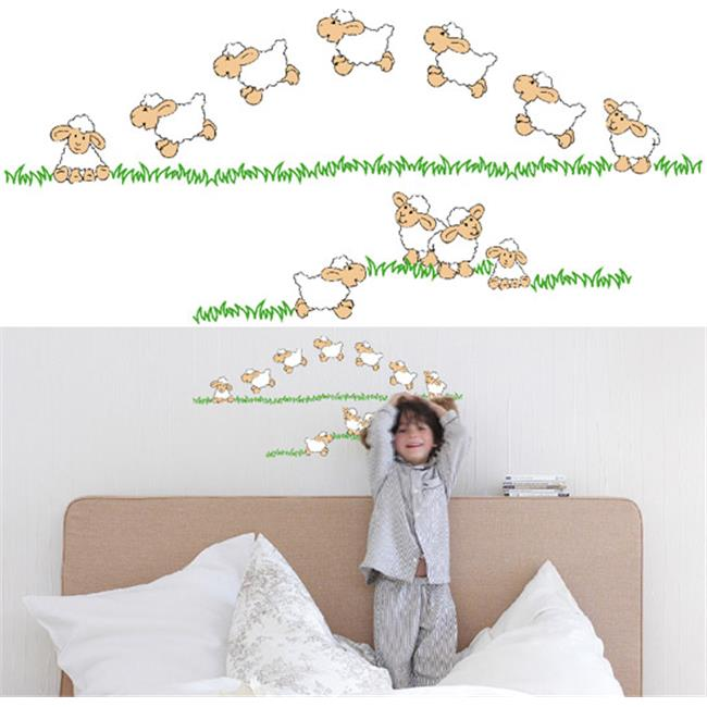Wizard & Genius DM74300 Jumping Sheep Wall Decals