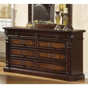 Traditional 9 Dovetailed Drawers Dresser