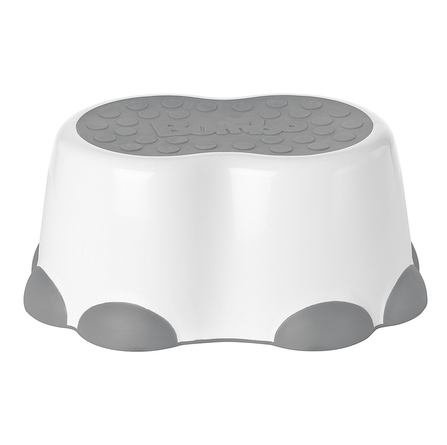 Step Stool, Cool Grey, White, Helps Toddlers Reach The Sink By Bumbo