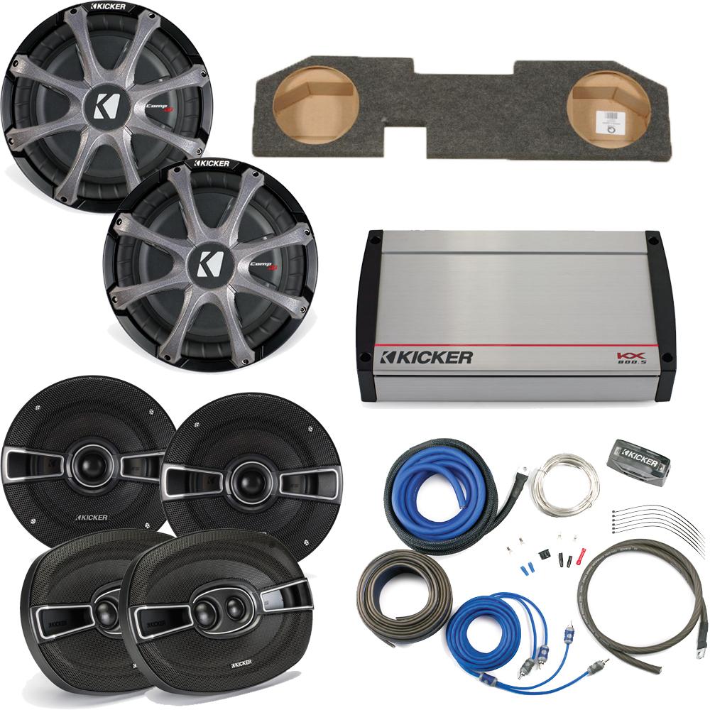 """Kicker for Dodge Ram Quad/Crew Cab 02-15 - Dual 10"""" CompR..."""