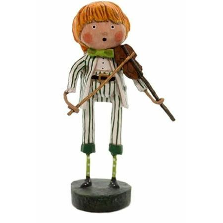 Lori Mitchell Halloween Figurines (FRANCES THE FIDDLER Whimsical Irish Figurine 5.5