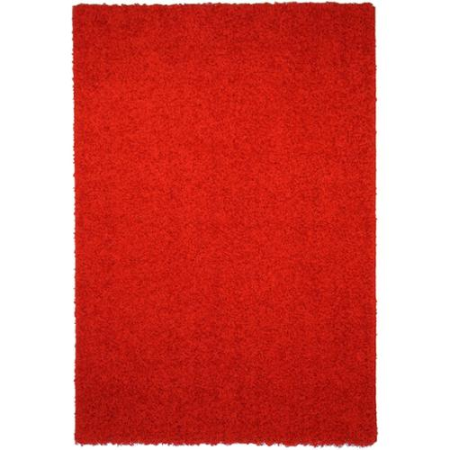 Rugnur Maxy Home Red Shag Accent Rug Doormat Single Solid Color (1'8 x 2'7)