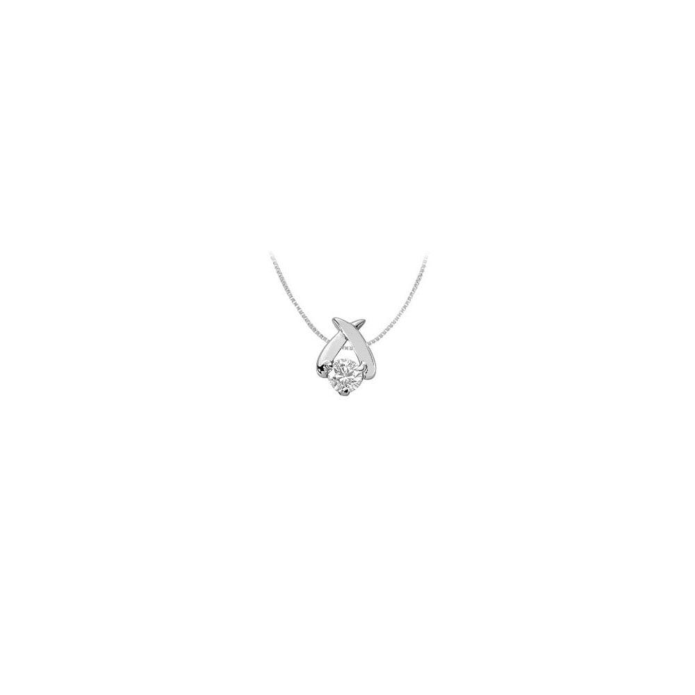 Cubic Zirconia Pendant Sterling Silver 0.25 CT CZs - image 2 de 2